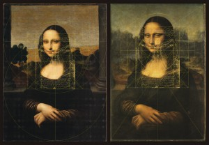 25_Harmonic Geometry_'Earlier Mona Lisa' (L) and Louvre 'Mona L