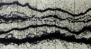Fabienne VERDIER, Nuées du soir, 2015, Mixed Media on canvas, 135 x 254 c
