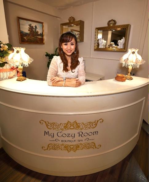 The lovely spa manager Celine