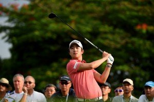 SINGAPORE- Younghan Song of Korea pictured on Sunday, January 31, 2016, during round three of The SMBC Singapore Open at the Sentosa Golf Club, Serapong Course, Singapore. Round three resumed due to play suspension on Saturday. The .US$ 1 Million event is co-sanctioned between the Asian Tour and Japan Golf Tour Organization. Picture by Paul Lakatos/ Lagardère Sports.