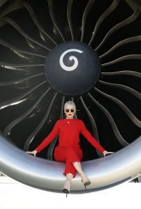 SYDNEY, AUSTRALIA - JUNE 30: Singer Jessie J poses in the engine of a British Airways 777-300 on June 30, 2016 in Sydney, Australia.The singer-songwriter played an acoustic set for VIPs and competition winners to celebrate the arrival of summer in the UK. (Photo by Mark Metcalfe/Getty Images for British Airways) *** Local Caption *** Jessie J