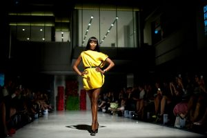 F1-Naomi Campbell Wearing ZENCHI - Presenting THe Podium Lounge Fashion Circuit FRI 16 - SUN 18 Sept