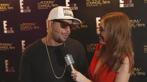 F1 - Sky Blu from LMFAO being interviewed by Yvette King from E! News