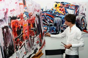 F1-World Famous Speed Painter Armin Flossdorf of F1 ARTS