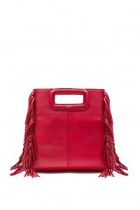 Maje M Packshot_Red leather