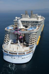 Aerial Harmony of the Seas - Offshore Barcelona (Spain) June 6, 2016 Harmony of the Seas - Royal Caribbean international